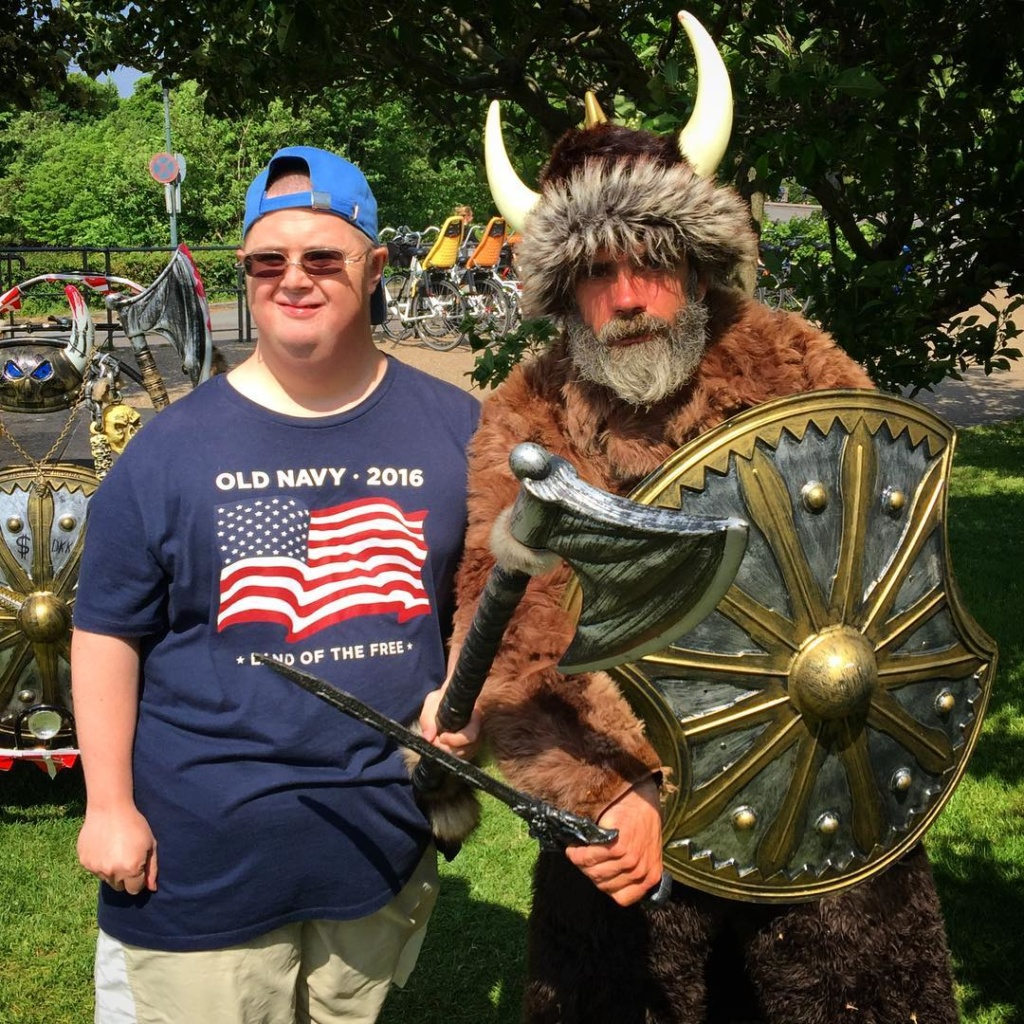 Martin made a Viking friend!