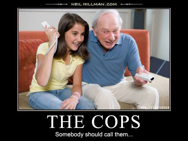 demotivational poster the cops someone call them