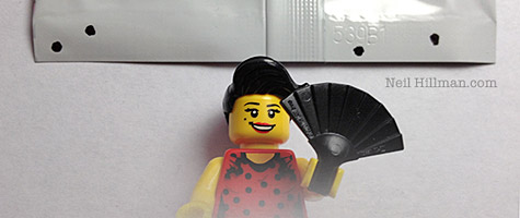 Lego Minifigures Series 6 Flamenco Dancer bump codes
