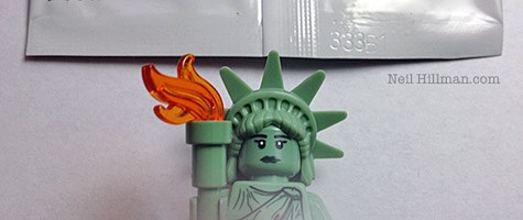 Lego Minifigures Series 6 Lady Liberty bump codes