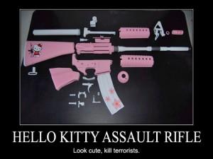 Hello Kitty Assault Rifle – Look cute, kill terrorists.