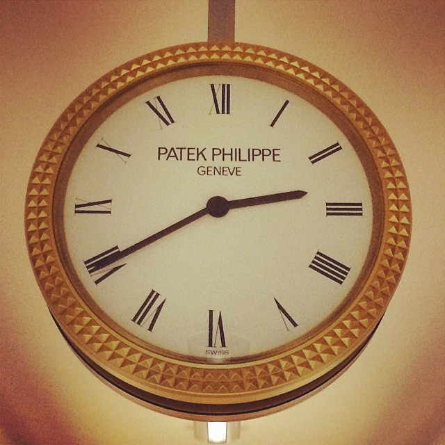 All the clocks are by Patek Philippe inside the United…