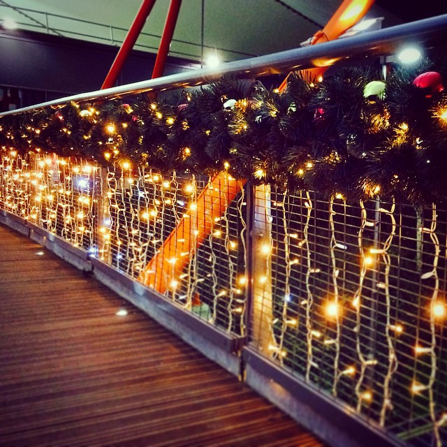 Christmas lights at the Ashford Designer Outlet UK  christmashellip