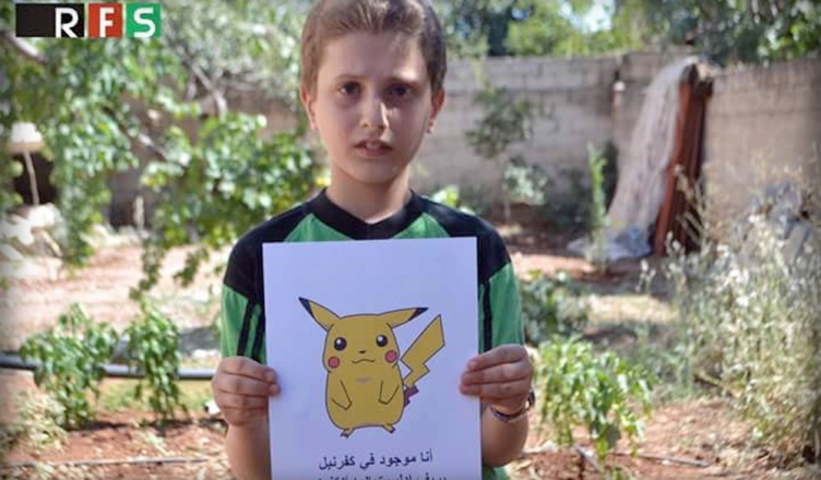 Come catch me - Syrian children with Pokemon