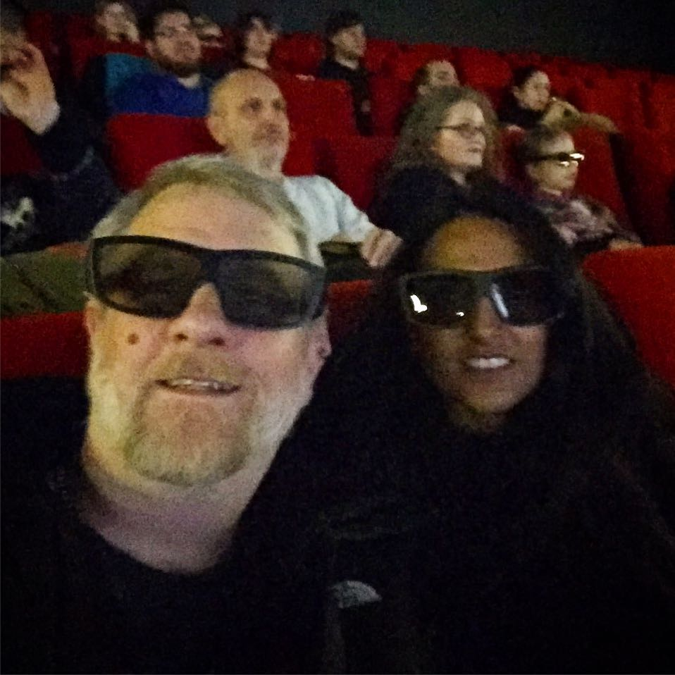 Star Wars IMAX 3D with my sister Asha x
