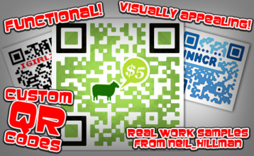 Customized QR code examples