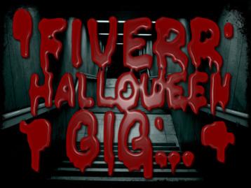 Halloween bloody font / text