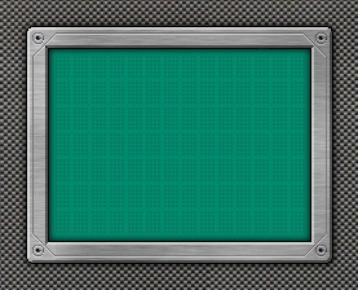 Faux LCD screen display