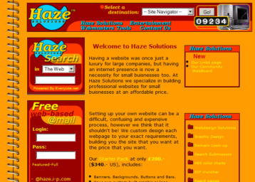 My first website from 1999