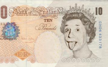 Einstein on a 10 pound note