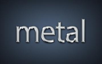 Metallic text effect