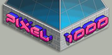 Pixel1000.com wall logo