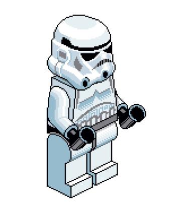 Lego Stormtrooper pixel art