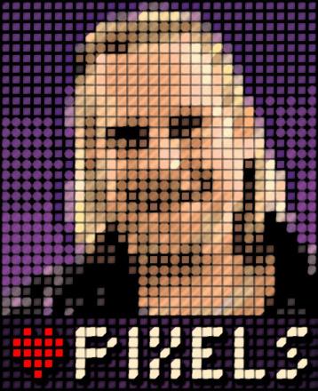 Self portrait in pseudo-pixels