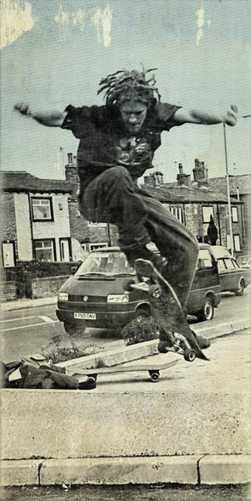 Old photo of me, skateboarding